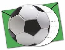 Pozvánky na party fotbal 6ks