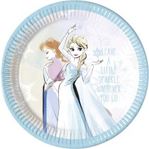 Frozen papírové talíře 8 ks, 23 cm