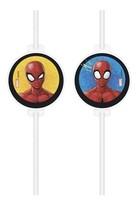 Spiderman papírové slámky na pití 4 ks
