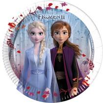 Frozen talíře papírové 8 ks 20 cm