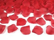 Okvětní lístky růže světle červené 100ks