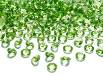 Diamanty zelené 1,2cm 100ks
