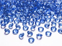 Diamanty modré 1,2cm 100ks