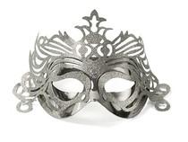 Maska stříbrná s ornamentem