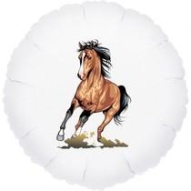 Kůň fóliový balónek kruh 42 cm