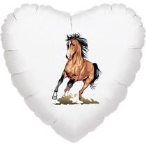 Kůň fóliový balónek srdíčko 42 cm