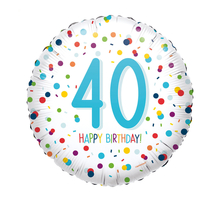 40. narozeniny balónek konfety 43 cm