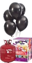 Helium Balloon time sada balónky Metallic Black