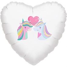 Jednorožci balónek srdce