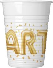 Kelímky Party zlaté 8 ks 200 ml