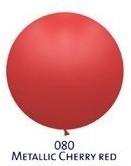 Obrí metal. balónik  - JUMBO - 080 CHERRY RED