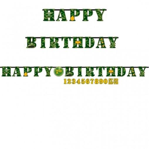 Army narozeniny nápis 320cm x 25,4cm