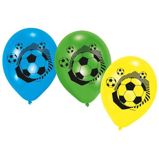 Fotbal balónky 6 ks 22,8 cm mix barev