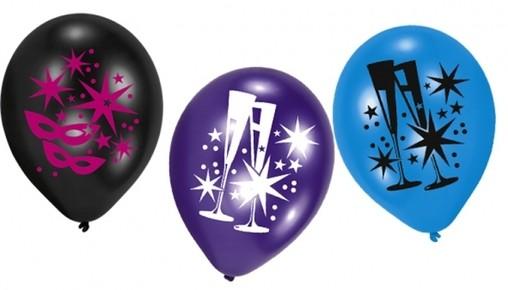 Balónky hvězdy a skleničky 6ks