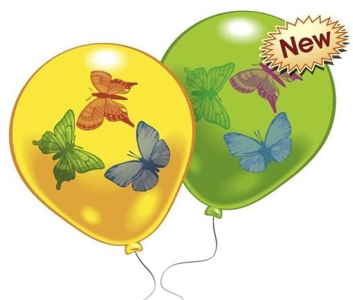 Balonek motýl 8ks mix