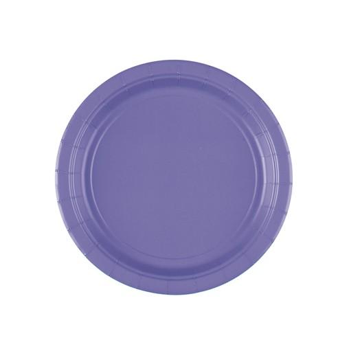 Talíře papírové New Purple 8ks 18 cm