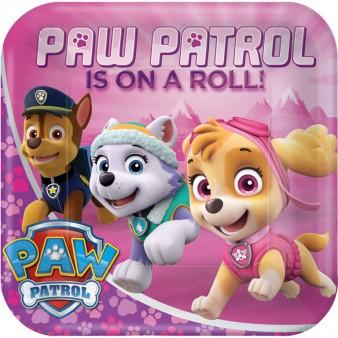 Paw Patrol Pink talíře 8ks 23cm