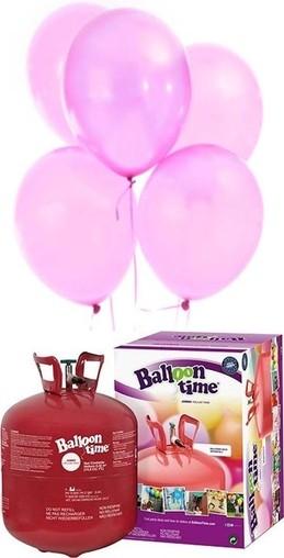 Helium Balloon time sada 50ks balonky Pink 004