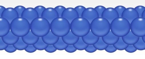 Balónková girlanda modrá 3 m